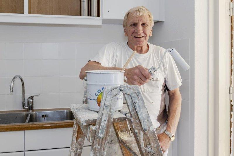 Schilder Gerry na 51 (!) jaar met pensioen